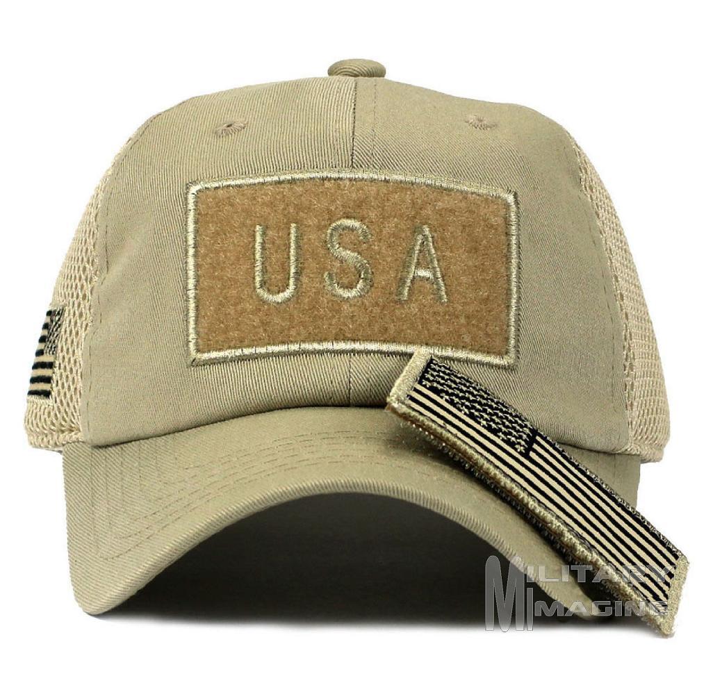 84e75186ed8 Tactical Operator Military cap USA American Flag hat Detachable Patch Micro  Mesh