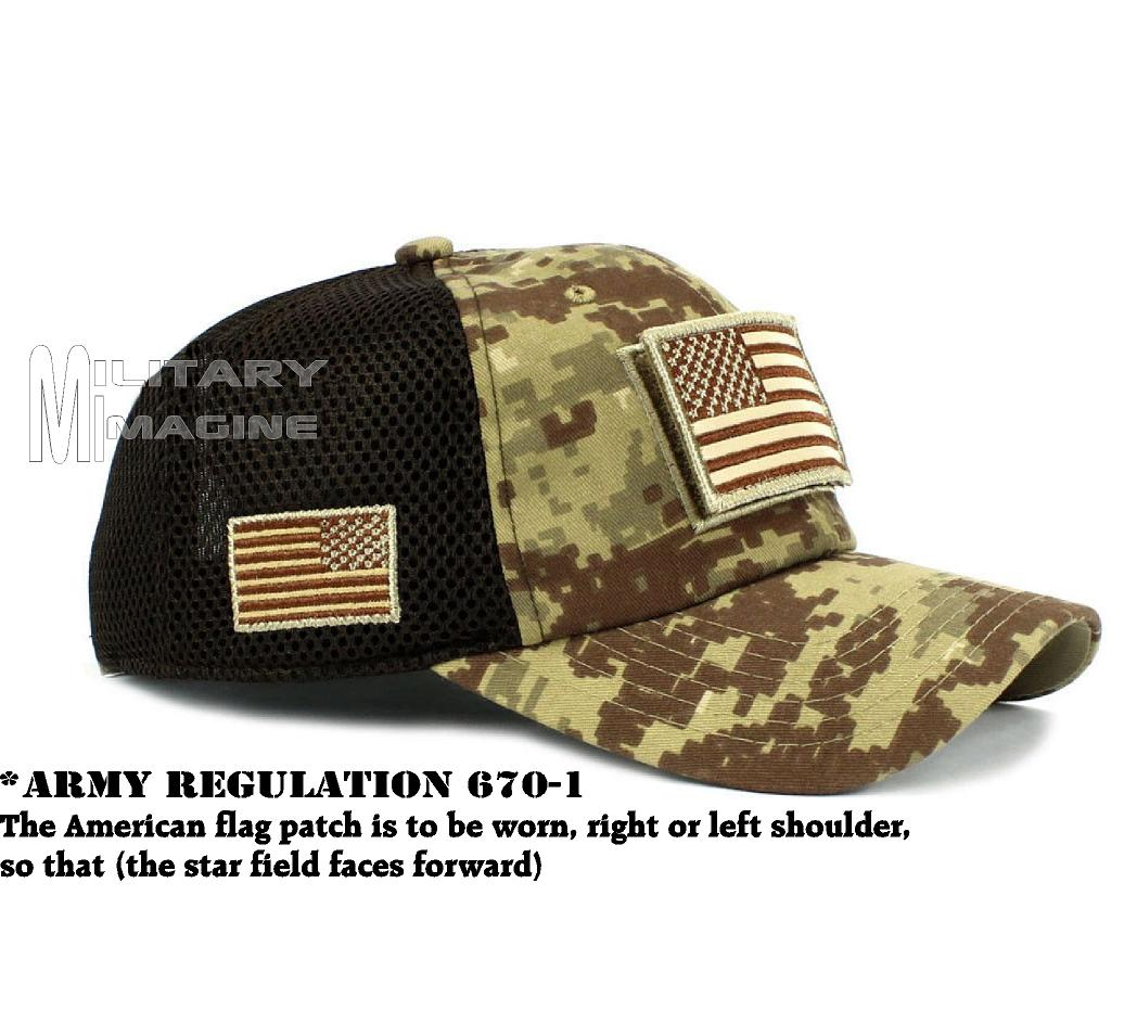 Tactical Operator Military cap USA American Flag hat Detachable Patch ... 621046c70b