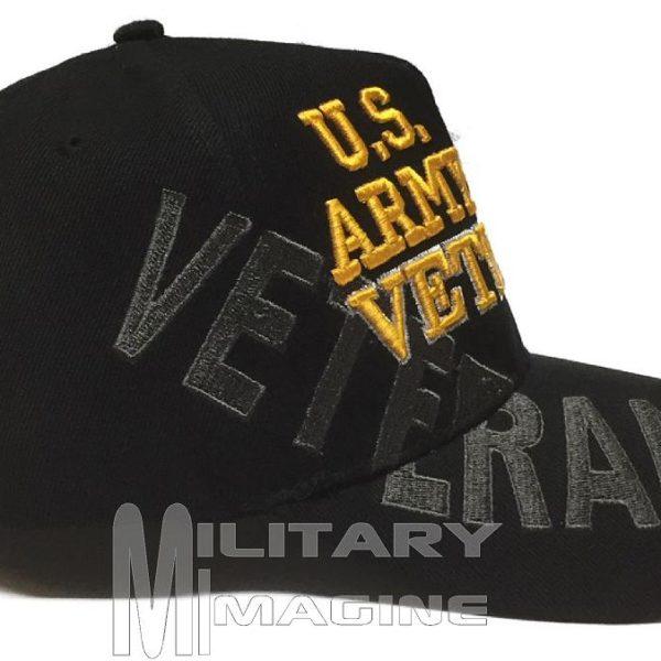 057d517bc8c U.S ARMY Black Veteran Hat w Flag   Eagle Cap – Military Imagine
