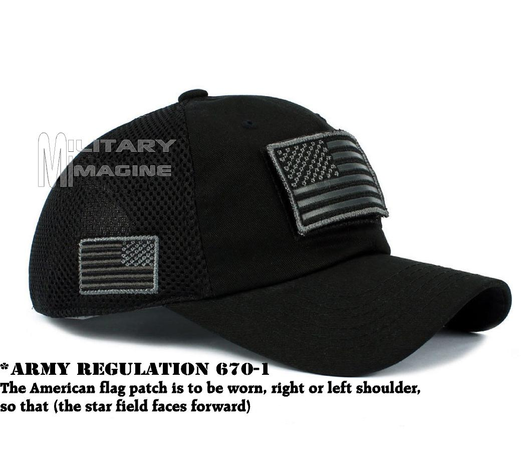 Tactical Operator Military cap USA American Flag hat Detachable ... 47070ea9347