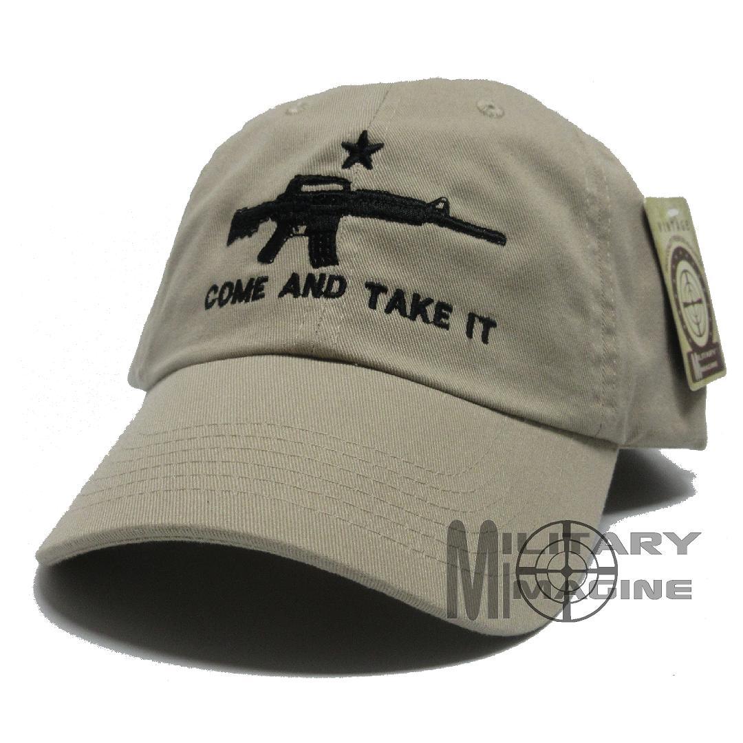 c7f59a25d AR-15 Come And Take It Khaki 2nd Amendment Cap Hat