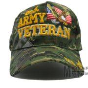 92ba0d5ab8a U.S ARMY OD Green Digital Veteran Hat w Flag   Eagle Cap – Military ...