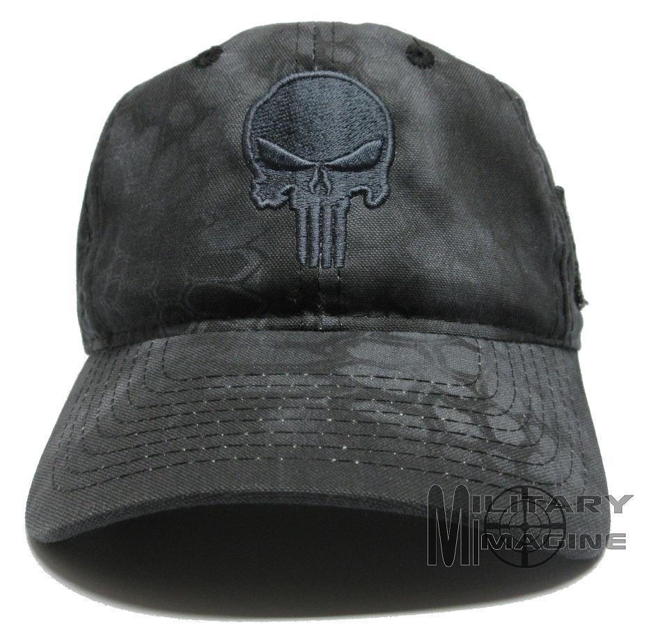 Punisher Skull Camo Hat Cap Military Us Flag Patch