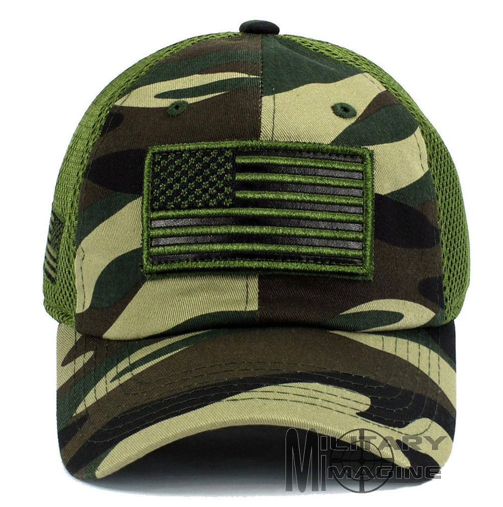 Tactical Operator Military cap USA American Flag hat Detachable Patch Micro  Mesh
